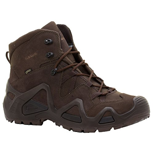 Lowa Mens Zephyr Gore-Tex Mid Task Force Dark Brown Suede Boots 41 EU
