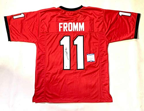 Jake Fromm Autographed Signed Signed College Style Xl Custom Jersey Beckett COA