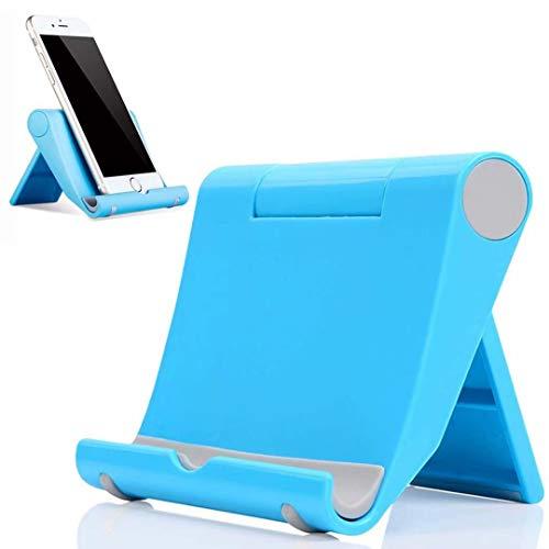 Soporte Universal para Tableta móvil,Soporte Perezoso Plegable,Adecuado para: Todos los teléfonos Inteligentes y tabletas de Sony, Nokia, Google, Moto, OnePlus, WIKO, DOOGEE, Blackview(Azul)