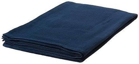 Ikea IKE 103.962.46 Indira Colcha (100% algodón, 150 x 250 cm), Color Azul Oscuro