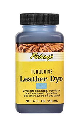 Fiebing's Leather Dye - Alcohol Based Permanent Leather Dye - 4 oz - Turquoise