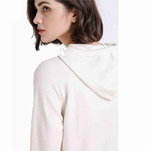Ms. Mode Effen kleur trui Losse lange mouwen shirt met capuchon trui dunne trui