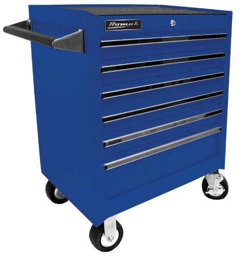 Homak BL04062601 27-Inch Professional 6 Drawer Rolling Cabinet, Blue