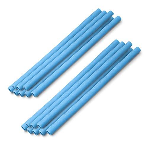 Ampel 24 MotionXperts - 16 spugne copripalo/Spugne protettive per Tappeto Elastico da Giardino / 2 spugne per palo/Sufficienti per 8 Pali/Blu