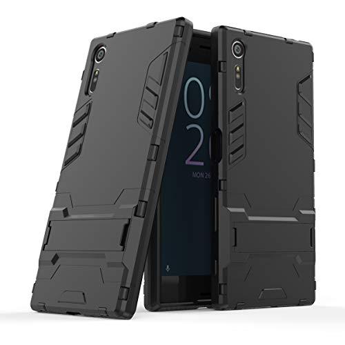 Cocomii Iron Man Armor Sony Xperia XZ/XZs Case, Slim Thin Matte Vertical & Horizontal Kickstand Reinforced Drop Protection Fashion Bumper Cover Compatible with Sony Xperia XZ/XZs (Jet Black)