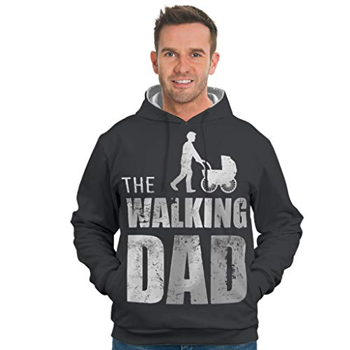 CUCIN-hoodie The Walking Dad grafisch patroon druk licht overtrekken trui trui met trekkoord voor jeugd mannen vrouwen jongens meisjes stijlvol en grappig design