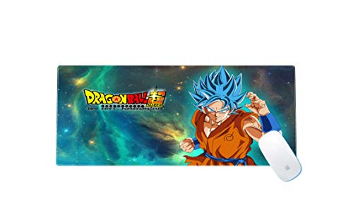 Dragon Ball Z Large Gaming Mouse Pad Waterproof Non-Slip Keyboard Pad with Rubber Base Great for Laptop Computer 11.8x23.6x0.12 Inches