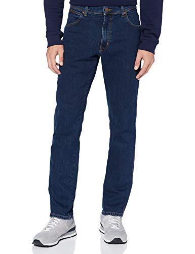 Wrangler Texas Taper Hombre Jeans, Blue Storm, 31W / 32L