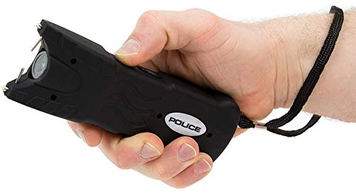 POLICE Stun Gun 916-59 Billion Rechargeable with Safety Disable Pin LED Flashlight, Black 5