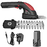 ZAKER 7.2V 2-in-1 Cordless Grass Shears& Hedge Trimmer, 1400SPM, Rechargeable Lithium-Ion Battery...