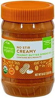 Simple Truth Organic No-Stir Peanut Butter, Creamy (16oz)