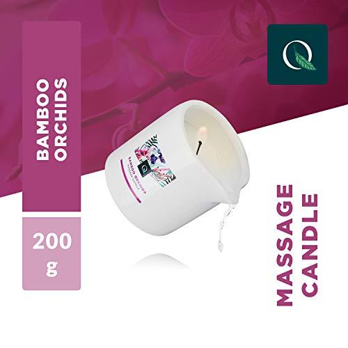 Exotiq Massagekerze Bambus Orchidee (200 gr – 7 oz) Für Entspannende Massagen mit Warmem und Weichem Massageöl – Perfekt für eine Heiße Massage – Relaxender Effekt, Hautfreundlich, Pflegend