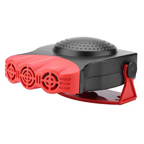 Tragbar Watt Auto Lufterhitzer Instant Temperatur Fenster Windschutzscheibe Defroster, Kühler Lüfter Energieeinsparung,Schwarz
