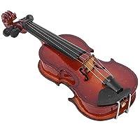TEAYASON ミニチュア バイオリン モデル、木製楽器の装飾品、ホーム オフィスのデスクトップの装飾 (8 センチメートル) のためのギフト,8Cm