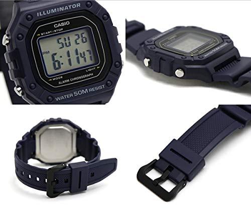 Casio Reloj Digital para Hombre de Cuarzo con Correa en Resina W-218H-2AVEF
