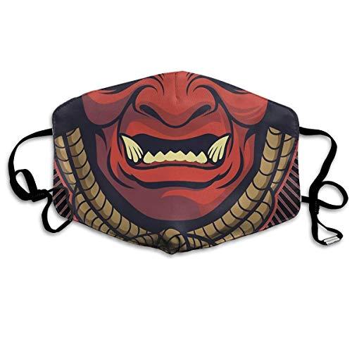Unisex Nasenmund waschbar Anti-Staubschutz Samurai verstellbare Mundschutz