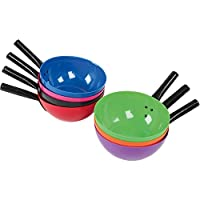 Round feed scoop Robust Plastic metal handle