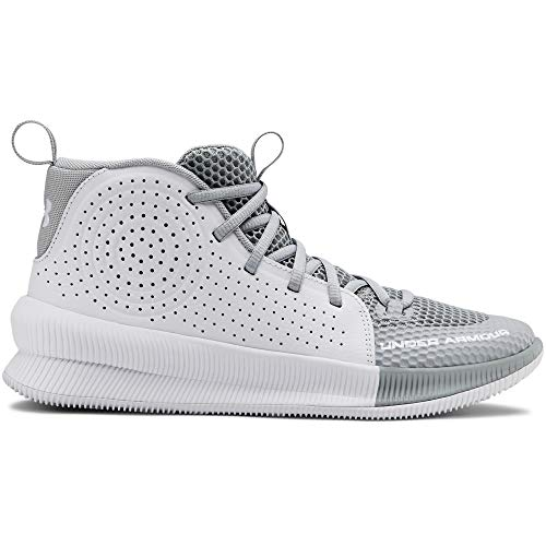 Under Armour Women's Jet 2019 Basketball Shoe, mod Gray (101)/White, 10.5