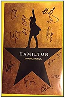 MugKD LLC Hamilton Broadway Poster Autographed Signed Gifts for Lovers Poster [No Framed] Poster Home Art Wall Posters