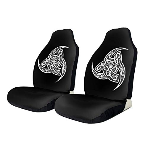 TPOKIM Car Seat Protector Covers Celtic Norse Viking Nordics Wiccan Front Car Seats Cover Cushion Only Universal Fit for Most Cars Truck SUV Van