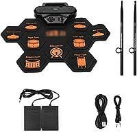 電子ドラム ポータブル電子ドラムパッドデジタルシリコーンロールアップドラムプラクティスキット
