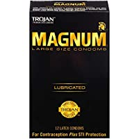 海外直送肘 Trojan Magnum Lubricated Latex Condoms Large, Large 12 each