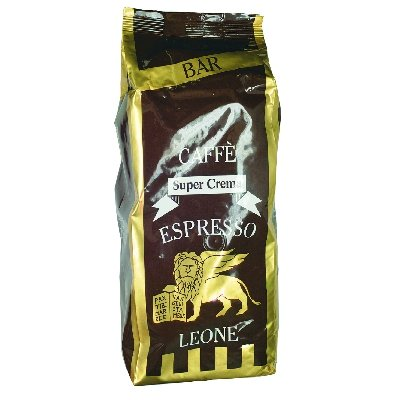 Leone Kaffeebohnen SuperCrema 1000 g 1 kgArabica/Robusta kräftiger Espresso mit schaumiger Crema
