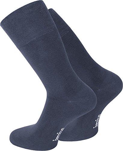 normani 3 Paar Bambus-Socken ATMUNGSAKTIV ohne Gummi Farbe Jeans Größe 35/38
