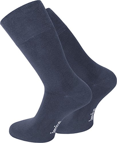 normani 9 Paar Socken mit Bambus Viskose ohne einschneidendes Gummibund Farbe Jeans Größe 47-50