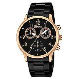 WANGJIA Moda Ginebra Hombres Reloj De Acero Inoxidable Reloj De Pulsera De Cuarzo para Mujer De Ocio Relojes para Hombre De Primeras Marcas De Lujo H