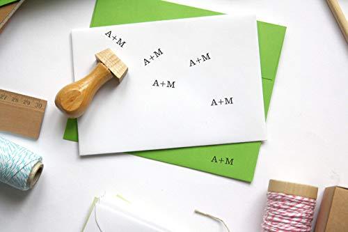 Timbro iniziali personnalisable, rettangolo, monogramma, personalizzazione con lettere