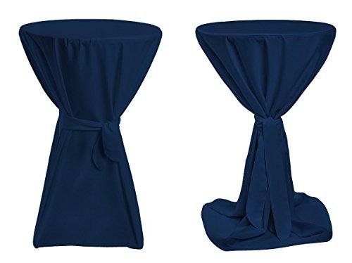 TexDeko Stehtischhussen Premium - Blau 70cm Durchmesser