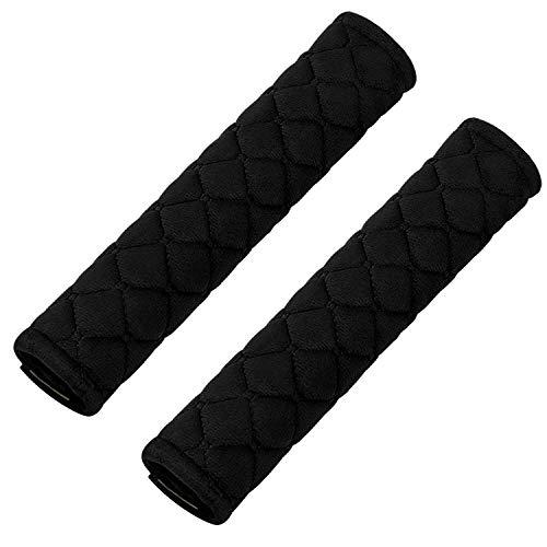 2Pcs Car Seat Belt Cover Pads, Shoulder Seatbelt Pads Cover, Safety Belt Strap Shoulder Pad for Adults and Children(Black)