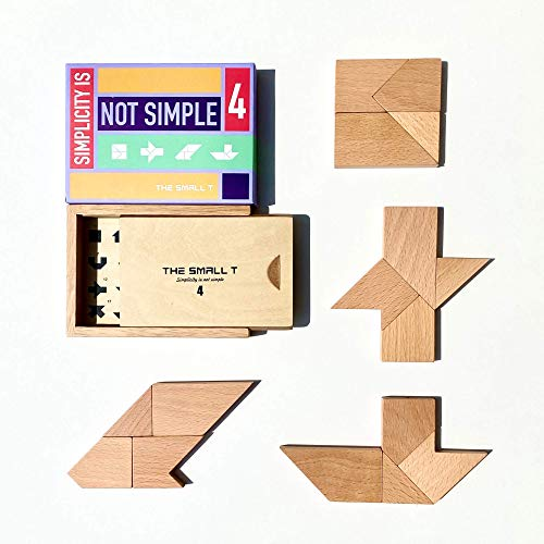 Tangram Puzzle for Adults -Teens - Kids Age 7 and up I Deluxe Japanese Crayon Puzzle Box Design I Wooden Brain Teasers, Mind Bending Puzzles - Level 4 - Difficulty: 8/10