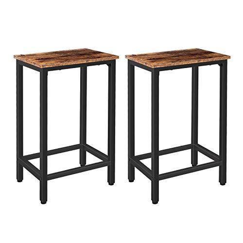 HOOBRO Barhocker 2er-Set, Barstühle, Sitzhöhe 65 cm, Küchenstühle mit stabilem Metallrahmen, Industrie-Design, für Wohnzimmer, Esszimmer, Küche, Vintage EBF65BY01