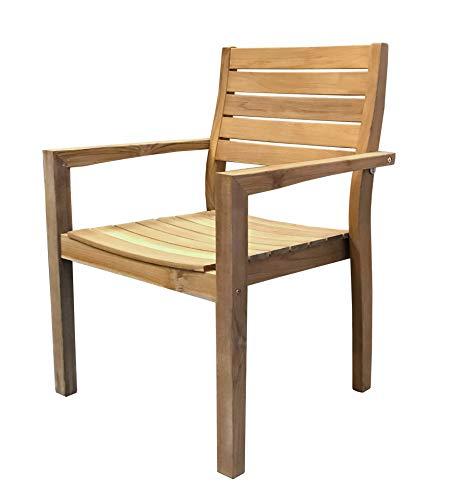 GRASEKAMP Qualität seit 1972 GRASEKAMP Qualität seit 1972 Teak Stapelsessel Sessel Stuhl Teakholz Gartenmöbel