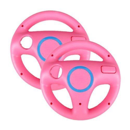 Ameego GN-006 Lenkrad für Mario Kart-Rennspiel, für Wii Game-Controller Rosa, 2 Stück