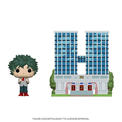 Funko Pop! Town: My Hero Academia - U.A. High School with Deku in Uniform, Multicolor