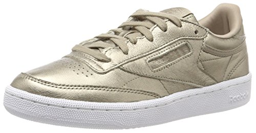 Reebok Damen Club C 85 Lthr Sneaker, Gold (Pearl Metallic-Grey Gold/White), 38 EU