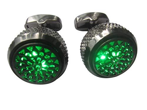 Mdeper Manschettenknöpfe, LED, leuchtende Manschettenknöpfe, modische Hemden, Business, Hochzeit, Party, Gastgeschenke