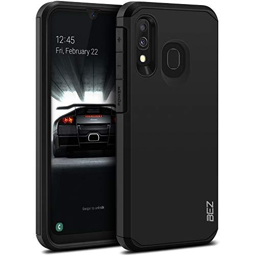 BEZ Funda Samsung Galaxy A40, Carcasa Protectora para Samsung A40 Antideslizante Ultra Híbrida Gota Protección, Cover Anti-Arañazos con Absorción de Choque Resistente, Negro