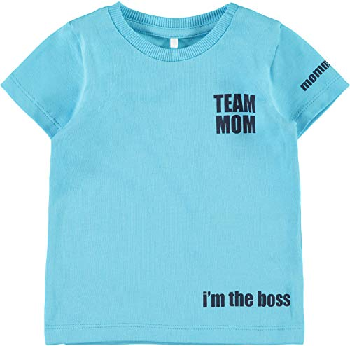 Name It Nbmjevin SS Top Box T-Shirt, Turquoise Bachelor Button, 62 Bébé garçon