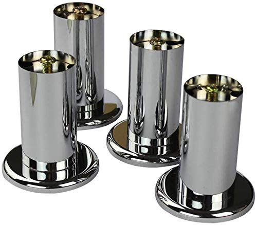 KISAD Patas de Muebles Patas de Mesa de Repuesto Patas de Muebles Metal 4X Sofá Pies de Repuesto Pies Muebles Pies para gabinete de TV Pasapiés Mesa de café Baño (Size : 18cm)