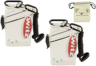 Koala Lifestyle Witz See It Safe Waterproof Floating Sports Case | Watertight Money ID Card Badge Holder Dry Box | Small Outdoor Container with Lanyard & Carabiner | 2pk Bundle + Pouch, Clear