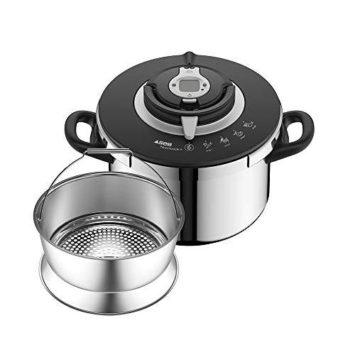 SEB NUTRICOOK + Cocotte-minute 8L inox induction Autocuiseur Fabriqué en France Facile à utiliser Programme de cuisson P4221417