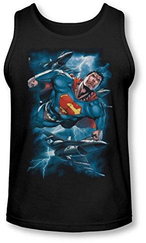 Superman - - Stormy Vol Débardeur Homme, Large, Black