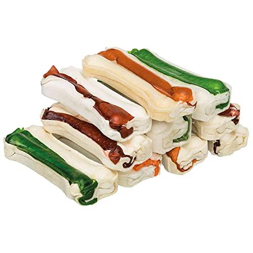 TRIXIE 10 Mini Huesos Snack Piel Masticable, 8 cm, 230 g, Perro