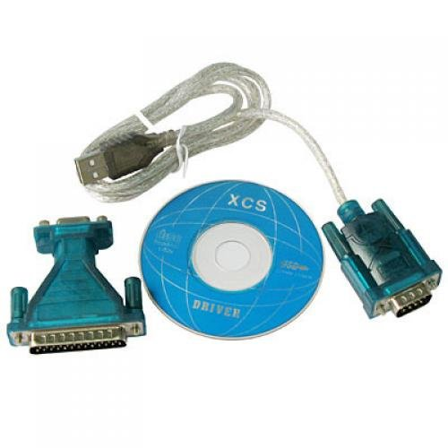 Adaptador USB A RS232 + DB25 Macho DB9 Macho Cable Convertidor PC Win 7 Win 8