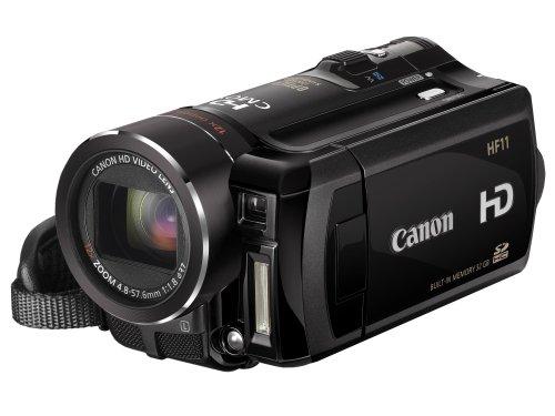 Canon AVCHD Camcorder HF11 (SD/SDHC-Card, 32GB Dual Flash Memory, 6,9cm (2,7 Zoll) Display, 12-fach optischer Zoom)
