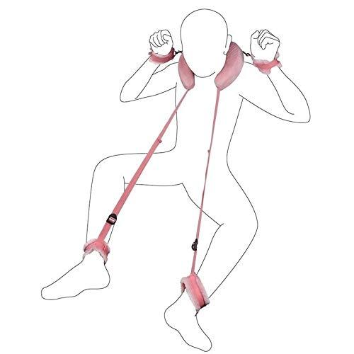 COOLTY Soft Bed Bóńdágê Leg Strap RḔ-s-t-rḁiňts S-Ḕ-x K-Î-t BḔd B-ḁ-n-ds Boň-dḁ-gḔwḔḁr Boň-dḁ-gḔs SḔt WṎ-m-Ḕ-ňs TṎ-ys St-rḁps Plḁy Biň-diňg Shḁ-cklḔs ḁn-k-l-Ḕ H-ḁ-ň-d (Color : Pink)